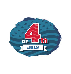 july 4th independence vector image