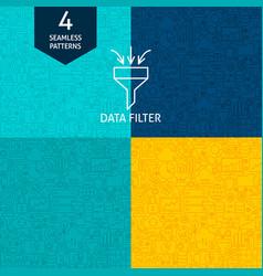 Line data filter patterns vector