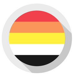 Lithsexual pride flag round shape icon on white vector