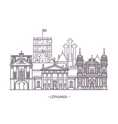 lithuanian landmark architecture vector image