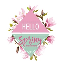 Magnolia Flowers and Leaves Background Graphic vector