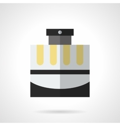 Male cologne flat color icon vector image