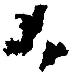 Map republic congo and brazzaville country vector