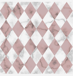Marble luxury check rhombus seamless pattern vector