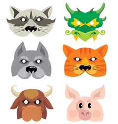 mask animals vector image
