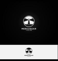 Mercusuar logo design template vector