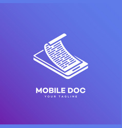 Mobile doc logo vector