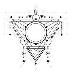 Modern sacred geometry vector
