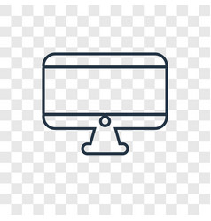 Monitor concept linear icon isolated on vector