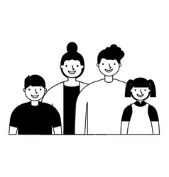 mother father son and daughter family vector image