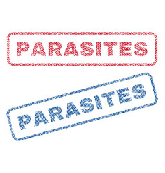 Parasites textile stamps vector