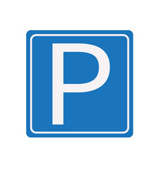 parking sign white background parking sign vector image