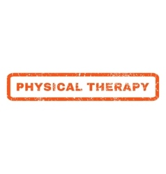 Physical Therapy Rubber Stamp vector image