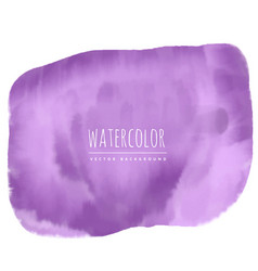 purple watercolor stain background vector image