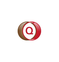 q letter circle logo vector image