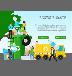 Recycle garbage save ecology concept banner vector
