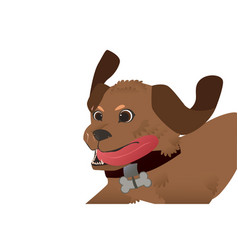 running dog vector image