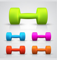 Set of color dumbbell vector