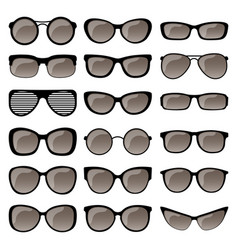 Set of sunglasses frames vector