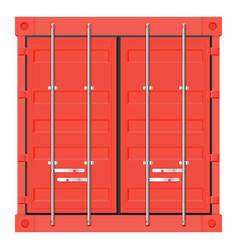 Shipping freight container red intermodal vector