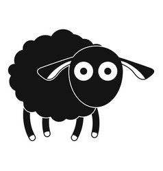 Shocked sheep icon simple style vector