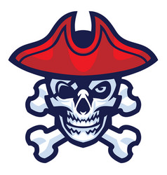 Skull of pirate vector