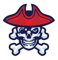 Skull pirate vector