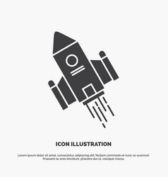 Space craft shuttle space rocket launch icon vector