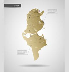 Stylized tunisia map vector