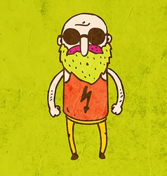 Sunglass man cartoon vector