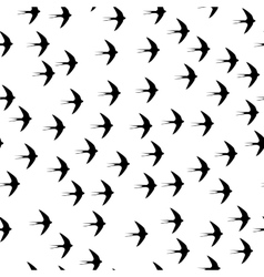 Swallow bird seamless pattern on a white vector image