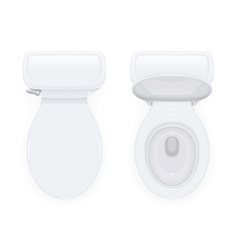 Toilet bowl with open vector