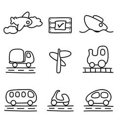 Transportation icon vector