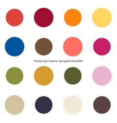 Trendy color scheme by plain color rounds vector
