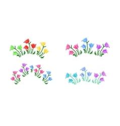 Tulips flowers set vector