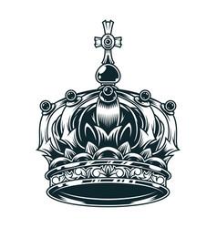 Vintage ornate royal crown concept vector