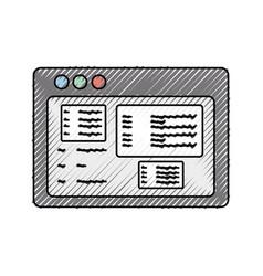 Website internet symbol vector