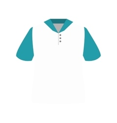 White polo shirt vector
