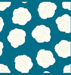 white rose on indigo blue background vector image
