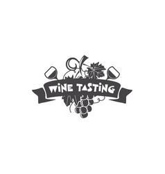 wine tasting winery logo template drink vector image