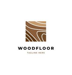 wood logo design template vector image