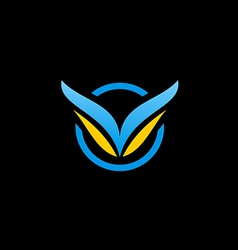 air fly abstract wing logo vector image vector image