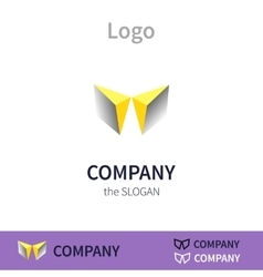Colorful logo identity for company vector image vector image
