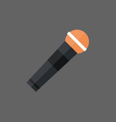 microphone icon modern mic audio system technology vector image