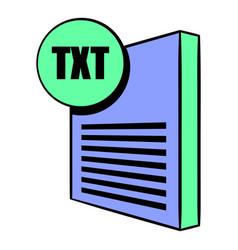 txt file icon cartoon vector image vector image