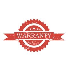 Warranty stamp vector image vector image