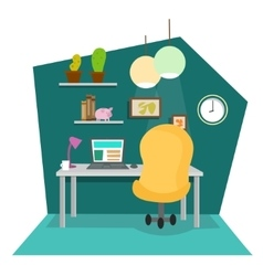Work Place at Office or Home vector image vector image