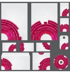beautiful template for business design folder vector image