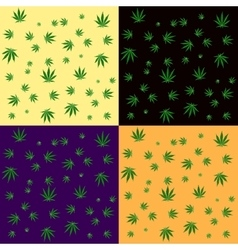 Cannabis leaf seamless background pattern vector image vector image