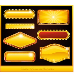 casino buttons vector image vector image